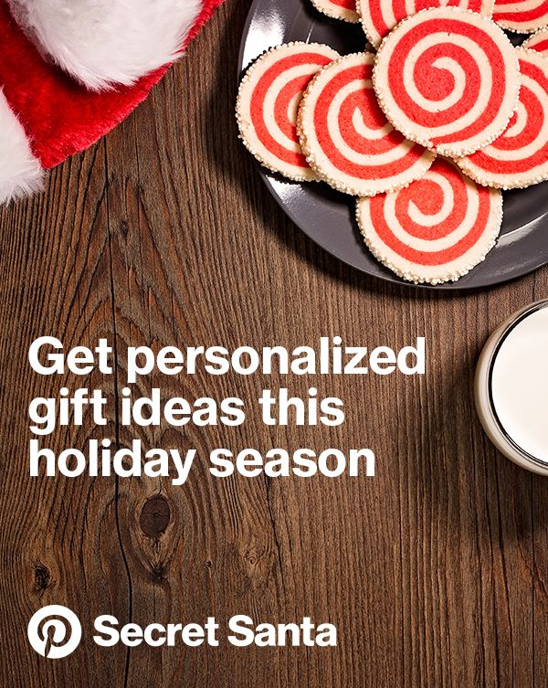 The secret's out! Pinterest Secret Santa gives you gift and holiday ideas based on what your family and friends are saving on Pinterest. #PinterestSecretSanta