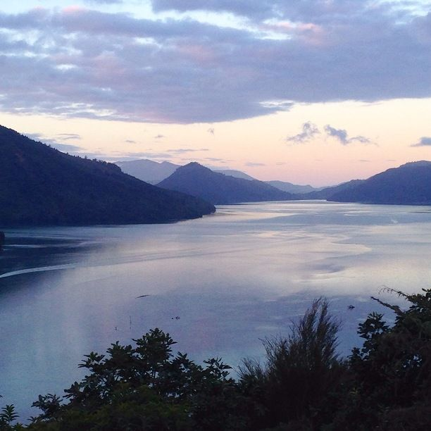 Marlborough Sounds, Picton, New Zealand — by Kelso Gone Kiwi. Just one small portion of the majestic Marlborough Sounds at sunset.