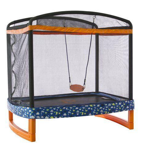 "72"" Indoor/Outdoor Rectangular Trampoline with Safety Enclosure"
