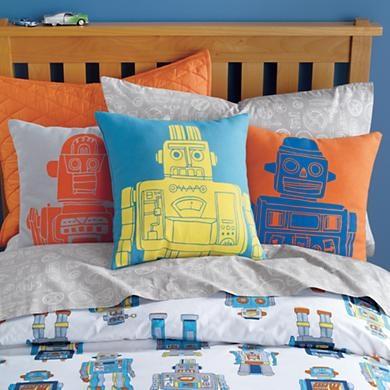 Robot Pillows: Robots, Kids Room, Big Boy, Boy Rooms, Duvet Cover, Baby, Boys Room, Land Of Nod