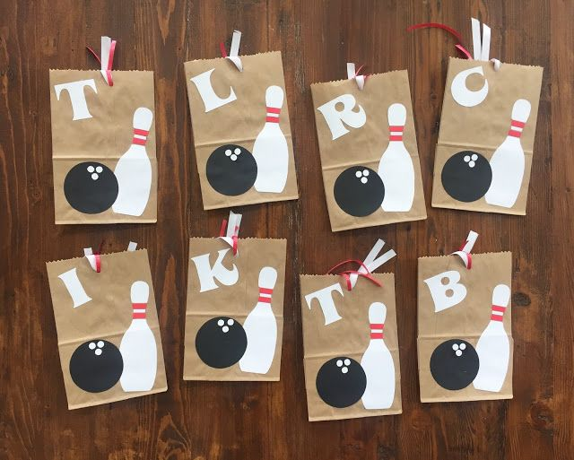 bowling themed loot bags