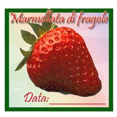Etichette quadrate fragole, download.