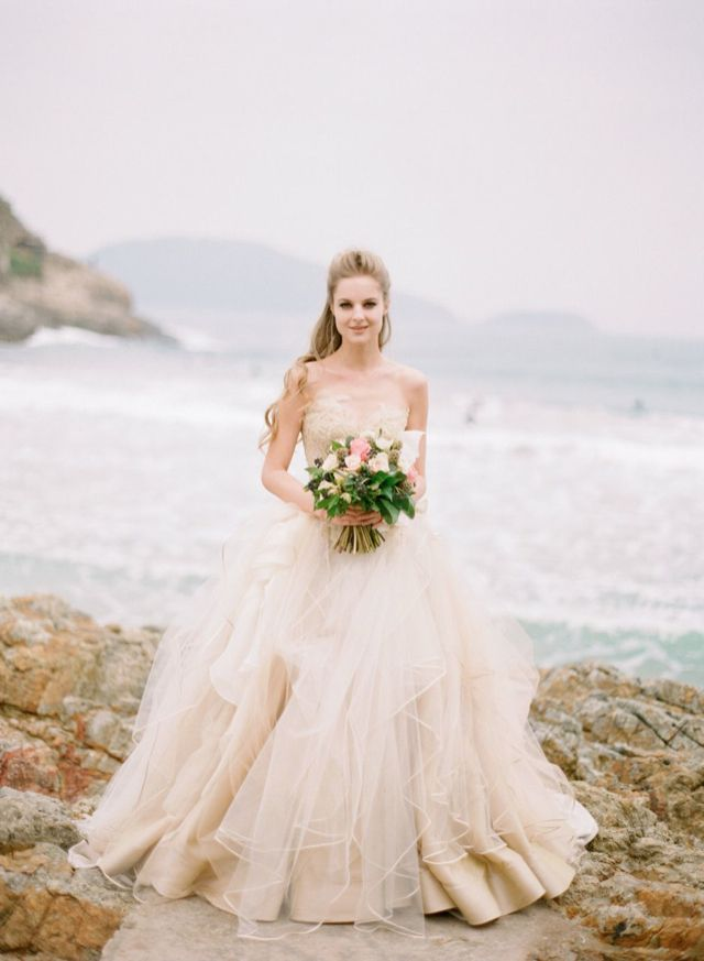 Vivian Luk Atelier sea life inspired bespoke wedding dresses / photographed by Alea Lovely
