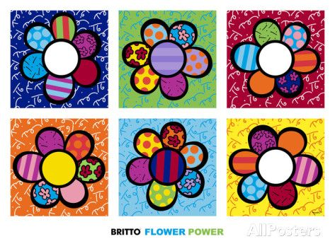 Flower Power Multi Posters by Romero Britto at AllPosters.com