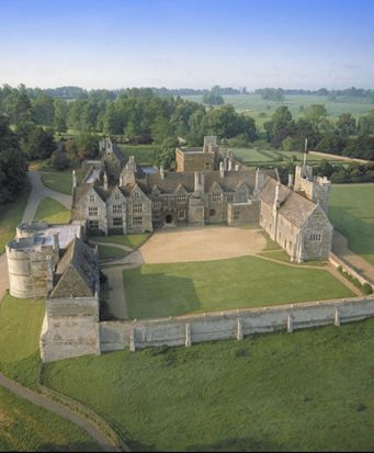 Rockingham Castle, Northamptonshire, UK - one of the most historic medieval houses in England, based around an early medieval castle. The castle sits atop a high hill overlooking the attractive village of the same name, and is surrounded by wonderful formal and informal gardens.