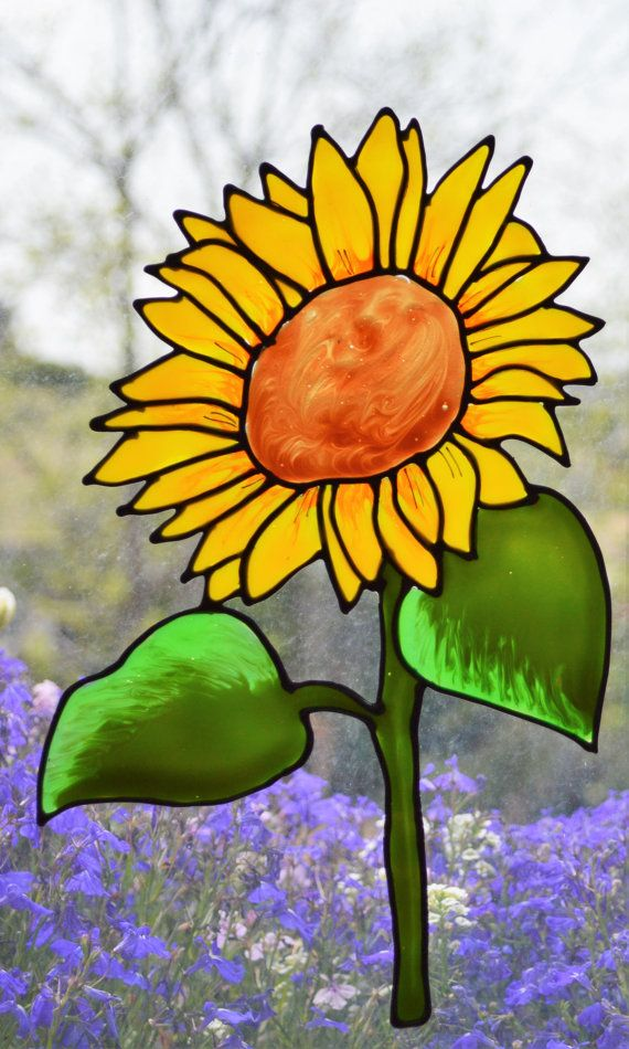 Sunflower gifts, Glass door decal, Static cling, Sunflower decor, Kitchen decals, Window cling