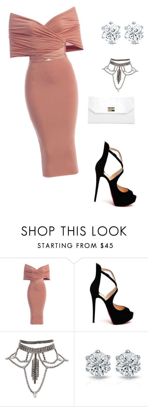 """""""Untitled #62"""" by ayannabg ❤ liked on Polyvore featuring Christian Louboutin and Boohoo"""