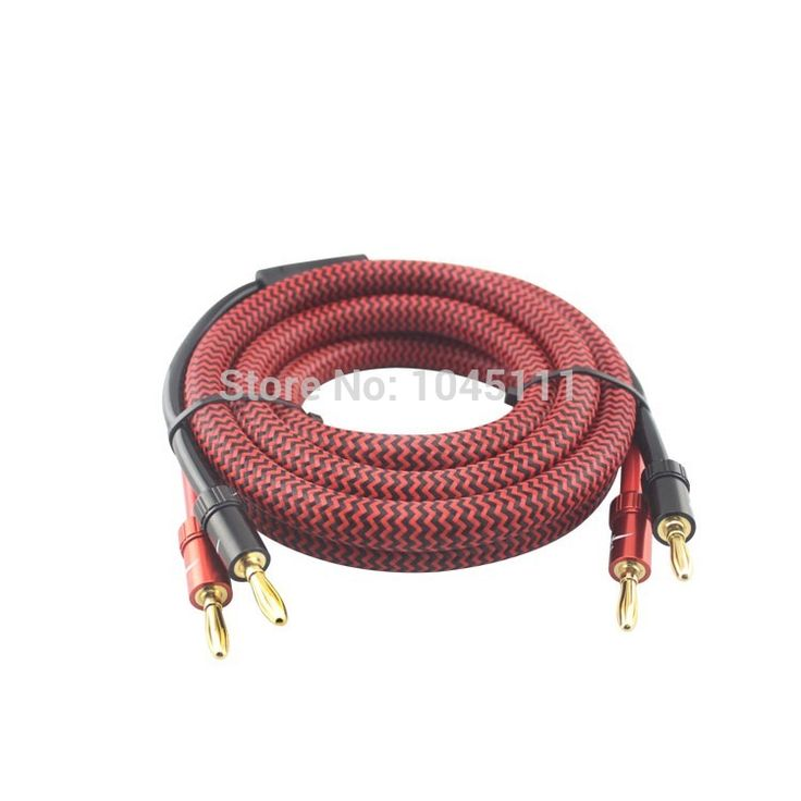 New Audiophile speaker cable 24K-Gold hifi speaker cable with Banana T-T connector pair