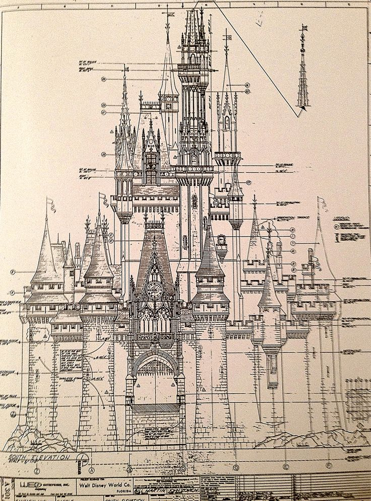 Magic Kingdom S Cinderella Castle Antique Architectural