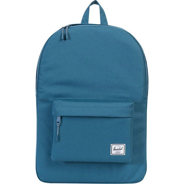 Herschel Supply Co. Classic Backpack ($45) ❤ liked on Polyvore featuring bags, backpacks, blue, day pack backpack, backpack bags, herschel supply co bag, blue bag and knapsack bag