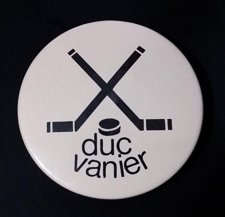 Vintage Duc Vanier Hockey Pin - Made in Quebec - Trophee H.B. https://treasurevalleyantiques.com/products/vintage-duc-vanier-hockey-pin-made-in-quebec-trophee-h-b #Vintage #DucVanier #Vanier #Quebec #Ottawa #Hockey #Memorabilia #Collectibles #ButtonPins #Pins #SportsPins #SportsCollectibles #Canada #Canadian #Trophee #Trophy #Award #Unique #GiftIdeas
