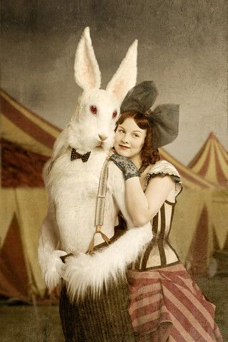 circus man - rabbit. i will be having just a few nightmares from this.