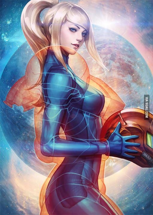 Zero Suit Samus inside Samus Suit