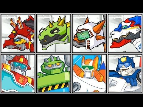 Dino Robot Corps + Rescue Bots - Full Game Play - 1080 HD - YouTube
