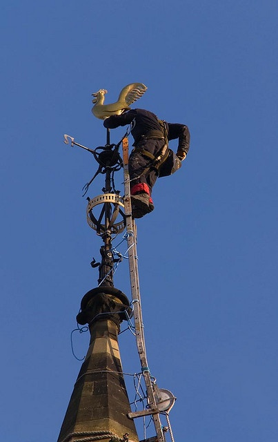 steeplejack with weathercock by robby.main, via Flickr