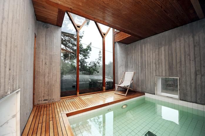 Villa Busk: there's a pool on the bottom level