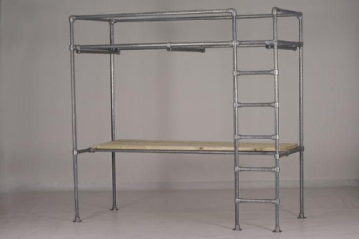 GISS design - hoogslaper, stapelbed, hoogslaper met bureau