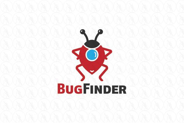 Bug Finder - $299 (negotiable) http://www.stronglogos.com/product/bug-finder #logo #design #sale #home #bugs #detection #pest #control
