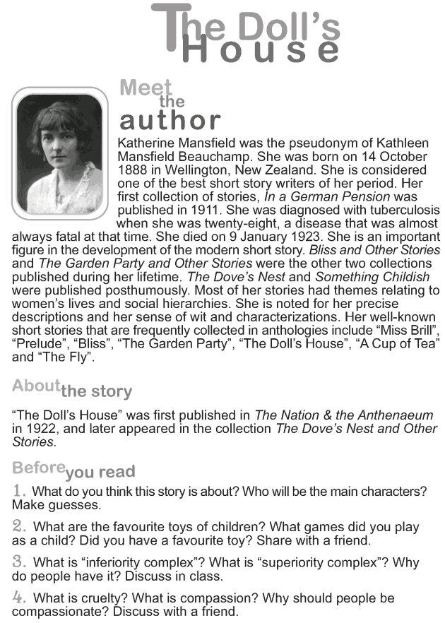 mansfields short stories essay Check out our top free essays on katherine mansfield the fly to help you write your own essay.