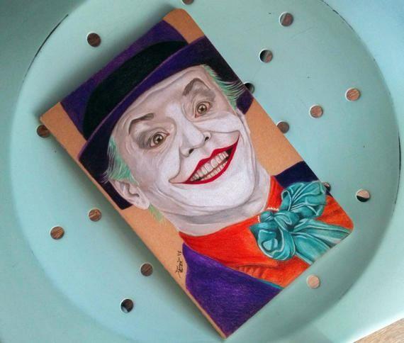 Custom Moleskine Joker Jack Nicholson l size Handpainted
