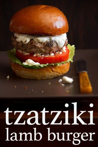 Not a huge lamb person, but this isn't overpowering ~ Tzatziki Lamb Burgers
