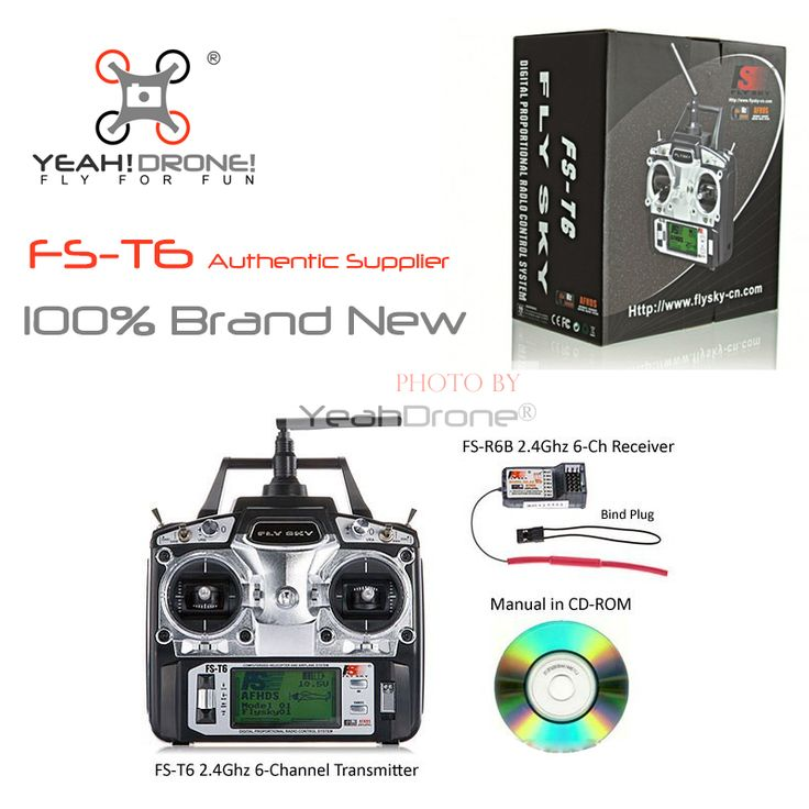 FlySky FS-T6 FS T6 2.4G 6CH RC Radio Control Transmitter w/ FS-R6B Receiver System -Ship with Color Box //Price: $US $96.50 & FREE Shipping //     #clknetwork