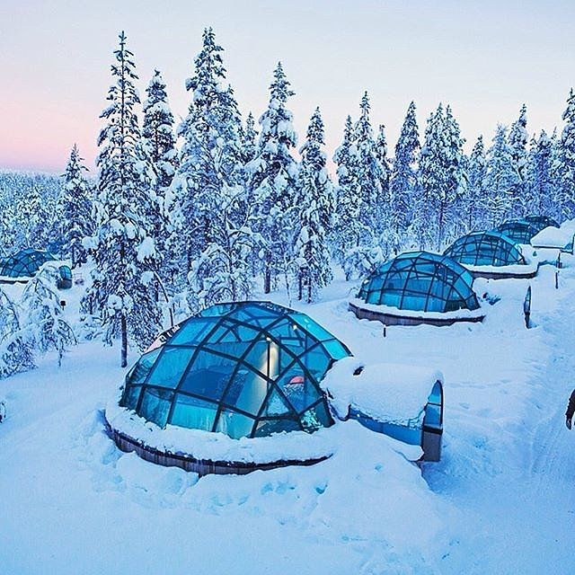 Stay in an Glass Igloo at the Kakslauttanen Arctic Resort in Finland