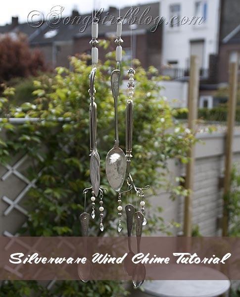 silverware wind chime