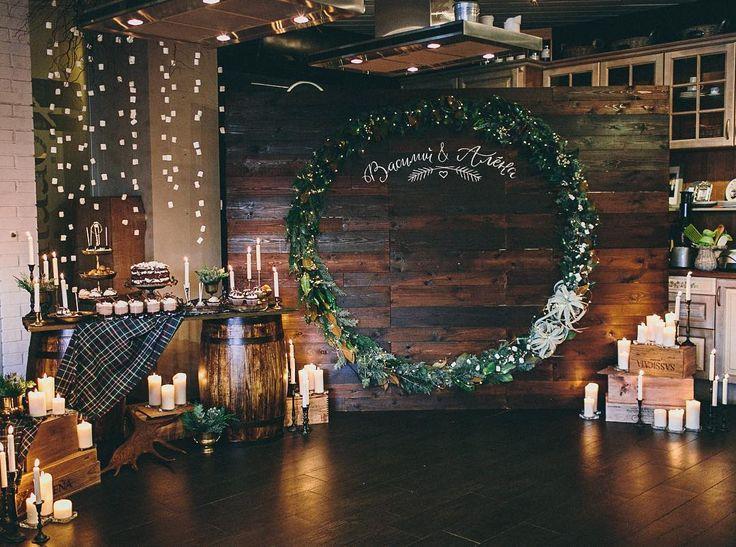 Фотозона и сладкий стол в уютнейшем декоре