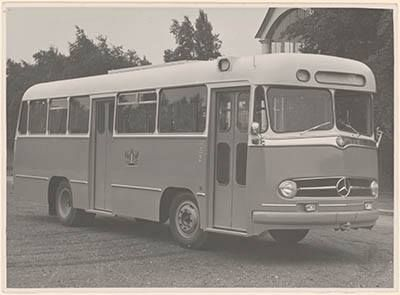 Autobus van het op 1 januari 1957 opgestarte Gemeentelijk Autobusbedrijf Dordrecht (GABD).