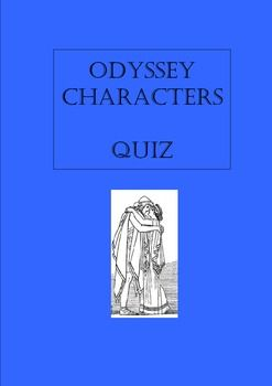 a comparison of characters in the odyssey by homer 1 comparing odysseus and telemachus in homer's odyssey under normal circumstances, anyone who willingly confronts military situations in which.