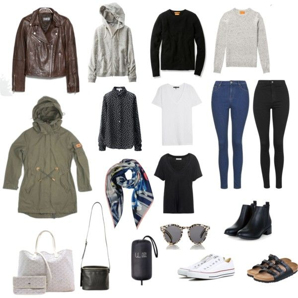 Packing: Winter in Hong Kong by smallhearted on Polyvore featuring Uniqlo, rag & bone/JEAN, Penfield, Topshop, Converse, Birkenstock, Goyard, Kara, Vivienne Westwood and Illesteva