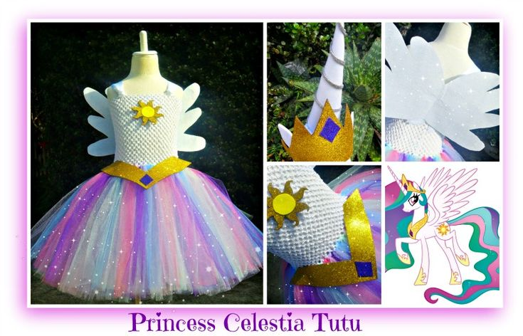Princess Celestia Tutu set- including Unicorn Horn and Tiara/ears headband- available at Booti Tutu on Fb & Etsy- NZ based