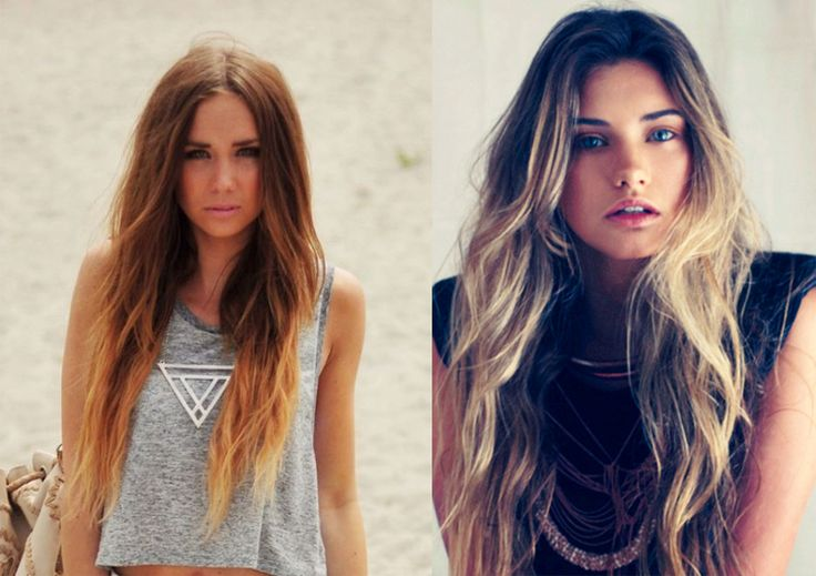 ombre hair blonde brown