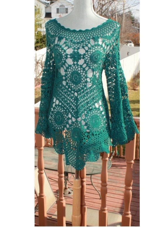 Silky Smooth Relax Fit Crochet Tunic Made to Order in by DearAlina, $250.00
