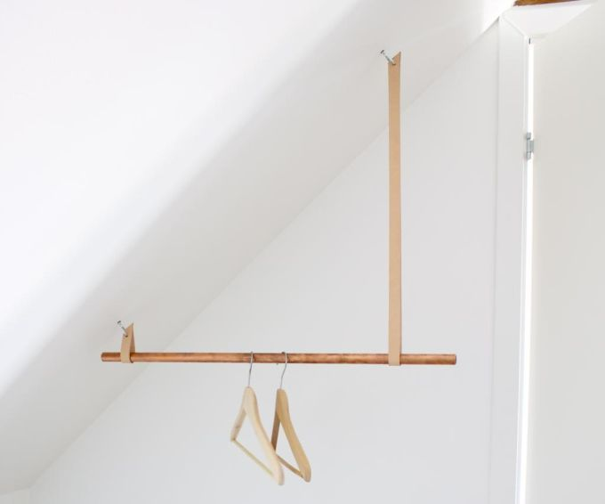 :: Havens South Designs :: loves this DIY hanging rod for the attic storage