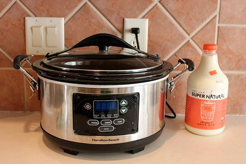 Learn how to make yogurt in a crock pot. | 46 Penny-Pinching Ways To Save A Lot Of Money This Year