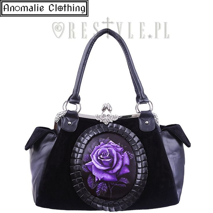 Purple Rose Cameo Handbag