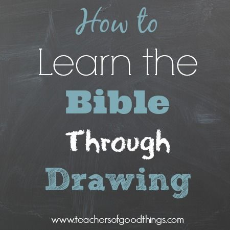 How to Learn the Bible Through Drawing - A great to learn as a family! www.teachersofgoodthings.com