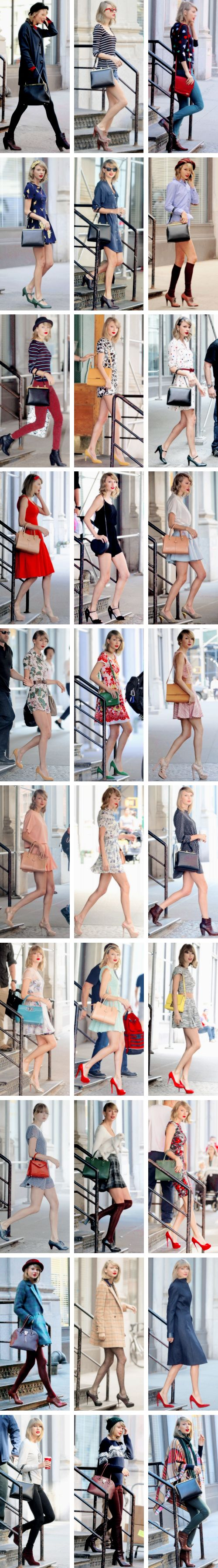 A Taylor Swift fashion collage ♥♥♥♥♥