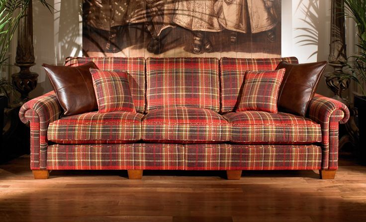 Plantation Plaid 3 Seater Duresta Sofa New Living Room