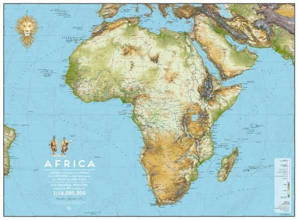 Africa map 91x67cm www.clipclop.co.za