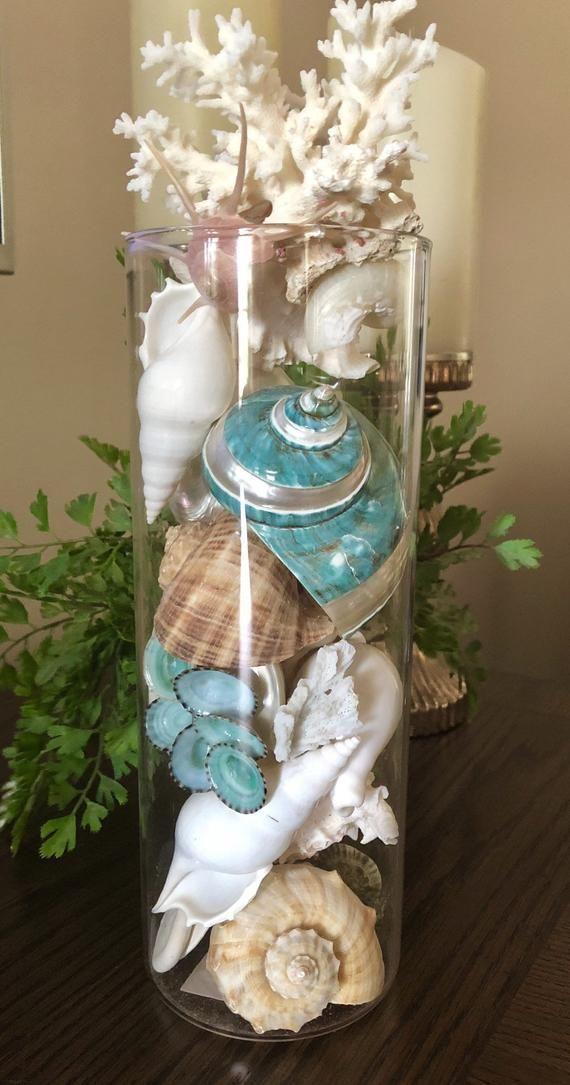 Seaside Glass Floats Christmas 2020 Seashell crafts Seashell crafts Handmade beaded bracelets Trees
