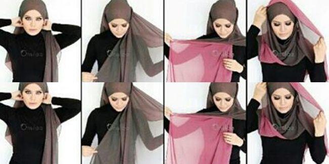 two tone hijab