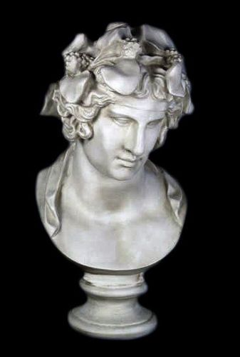 Dionysus Bacchus Greek Roman God Bust 28 Museum Sculpture