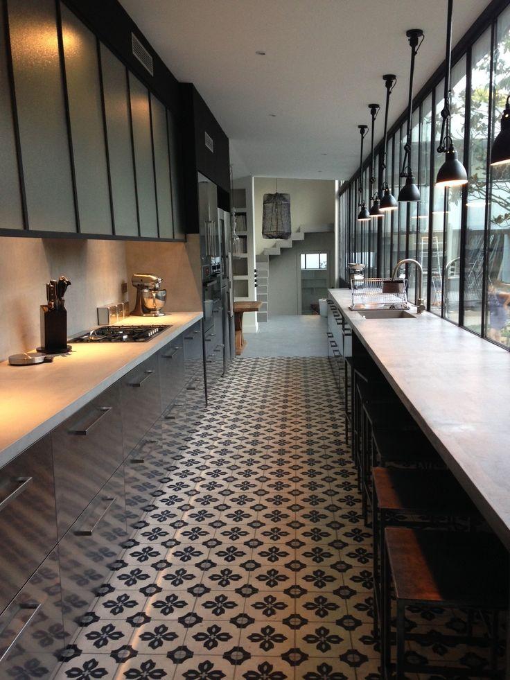 Vintage Tiles for the Kitchen Floor