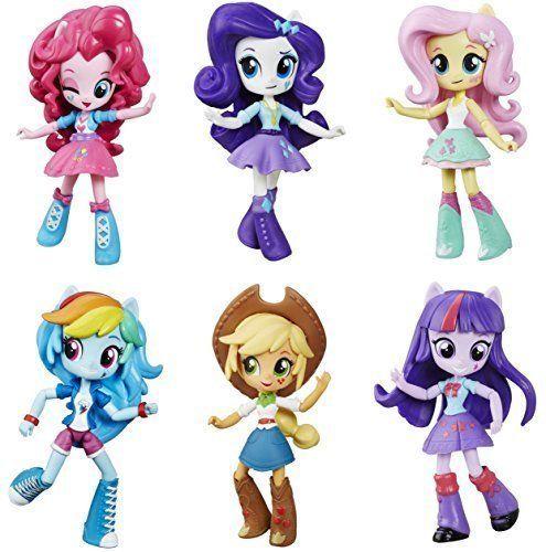 My Little Pony Equestria Girls Minis Mane 6 Set 2016 Rainbow Dash Pinkie Pie #Hasbro