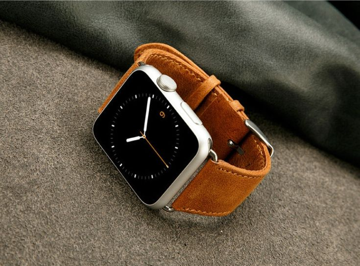 Fashion Design Genuine leather watchband for Apple watch 42mm Luxury band strap for Apple iwatch 42 mm 100% handmade