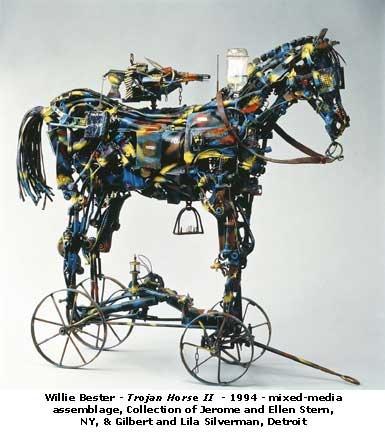 Willie Bester - Trojan Horse II - 1994 - mixed media assemblage.