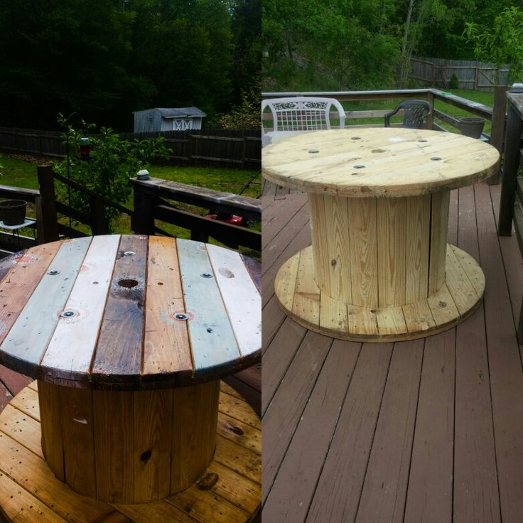 Best 25 wire spool tables ideas on pinterest spool for Wooden cable reel ideas